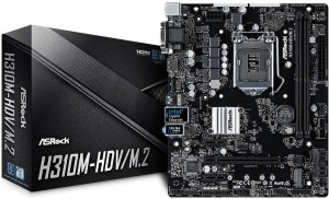 Asrock H310M-HDV/M2 ( HDMI/ DVI/ Dsub; 1 x M.2 slot for SSD)