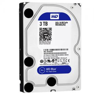 WD HDD Blue 3TB 3.5″ SATA 3/64MB Cache/ 5400RPM (Màu xanh) mã:WDBLUE3TB