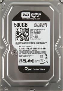 WD HDD Black 500GB 3.5″ SATA 3/ 64MB Cache/ 7200RPM (Màu đen) mã: WD500GBLACK