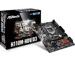Asrock H110M-HDV (D-Sub, DVI-D, HDMI – bản to) mã: ASROCKH110M_HDV